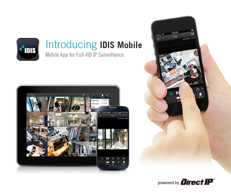 IDIS introduce mobile app