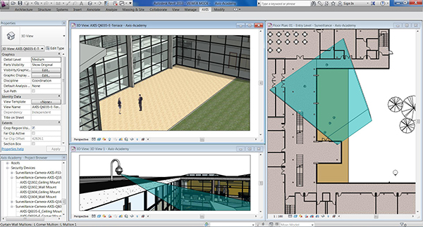 Axis Camera Families now available for Autodesk Revit