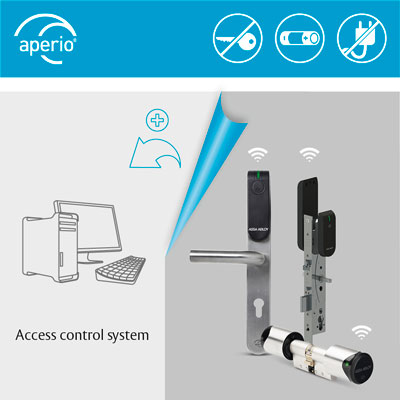 For access control providers, Aperio® wireless locks offer several ways to integrate