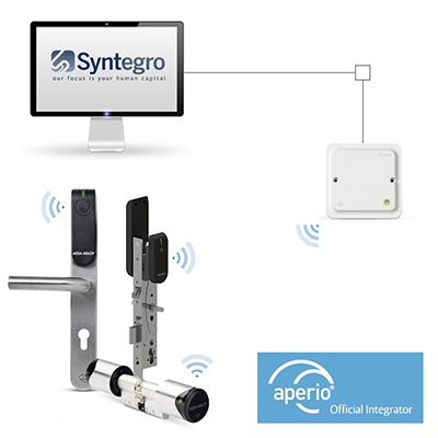 Wireless and wired access control working together, as ASSA ABLOY partners with Syntegro