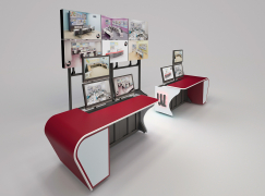 Winsted's radical consoles display  demonstrates furniture's flexibility