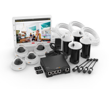 Axis offers a cost-efficient, highly discreet four-camera surveillance solution for retail and office market