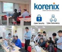 Korenix Taiwan Seminar showing the True Stableness and Secure Connections