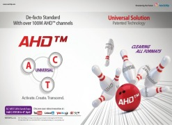 Nextchip launches Universal format officially with HD-CVI and AHD.