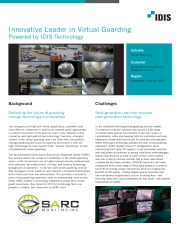Innovative leader in virtual guarding powered by IDIS Technology