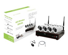 4CH 720P Wifi NVR KIT  DOME or BULLET Selectable