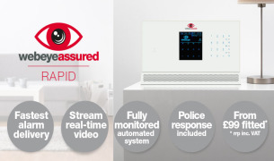Webeye assured RAPID. New professional alarm and monitoring system for the home and small businesses