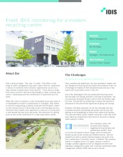 Fresh IDIS monitoring for a modern recycling centre