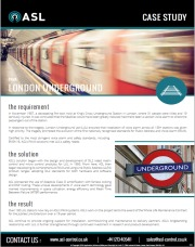 ASL Case Study - London Underground