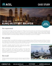 ASL Case Study - Klang Valley MRT, Malaysia