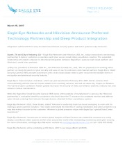 Eagle Eye Networks and Hikvision Announce Preferred Technology Partnership and Deep Product Integration