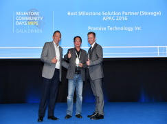 Promise Technology Named Best Storage Solution Partner by Milestone Systems for Second Consecutive Year
