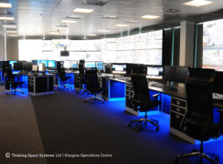 Control room furniture for Glasgow Operations Centre