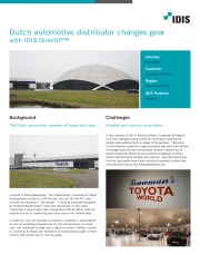 Dutch automotive distributor changes gear with IDIS DirectIP™