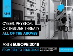 ASIS Europe 2018 Conference Theme Announced: Blurred Boundaries - Clear Risks