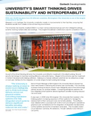 BIRMINGHAM CITY UNIVERSITY'S SMART THINKING DRIVES SUSTAINABILITY AND INTEROPERABILITY