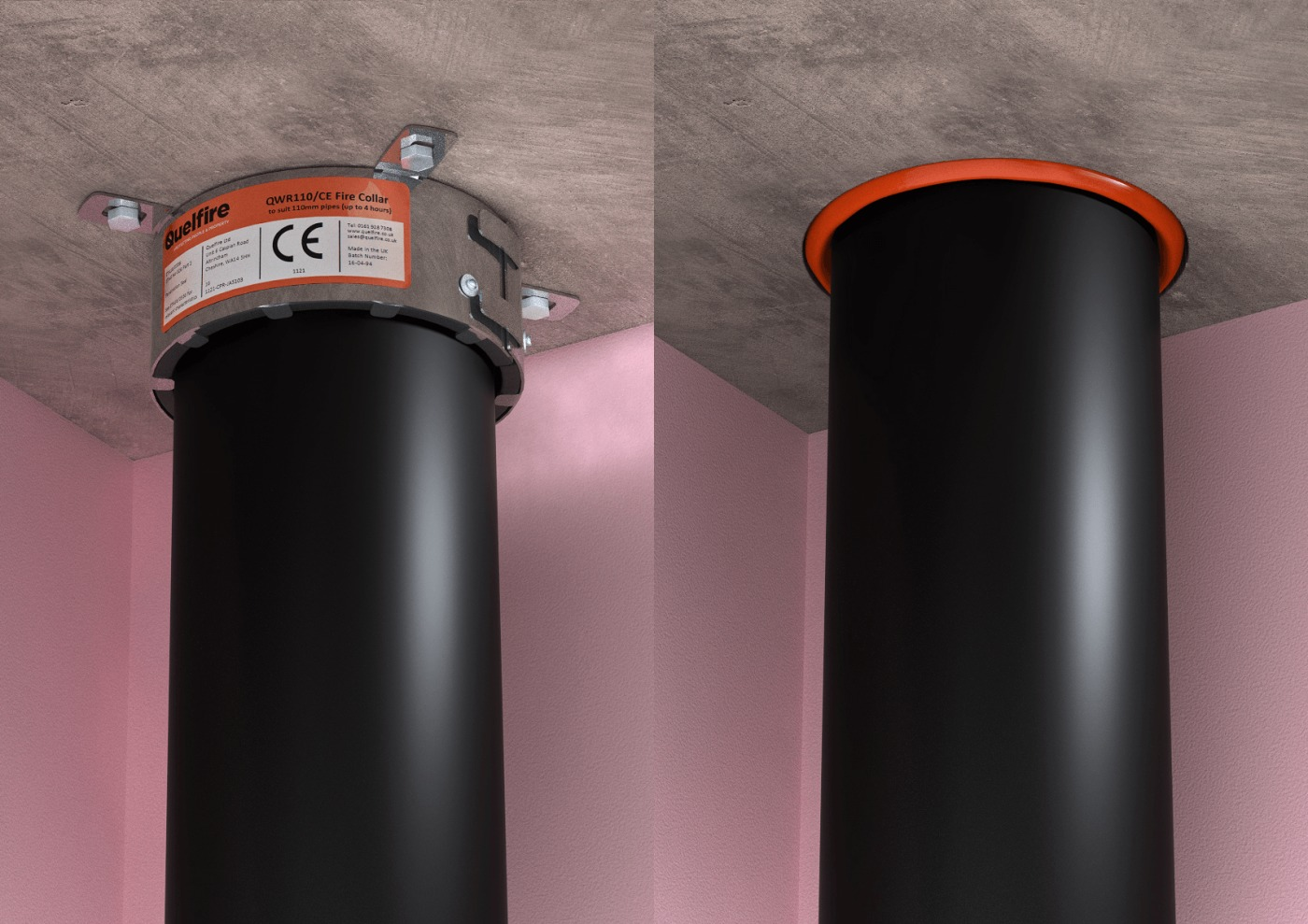 Pipe Penetration Sealing Fire Collars Or Intumescent