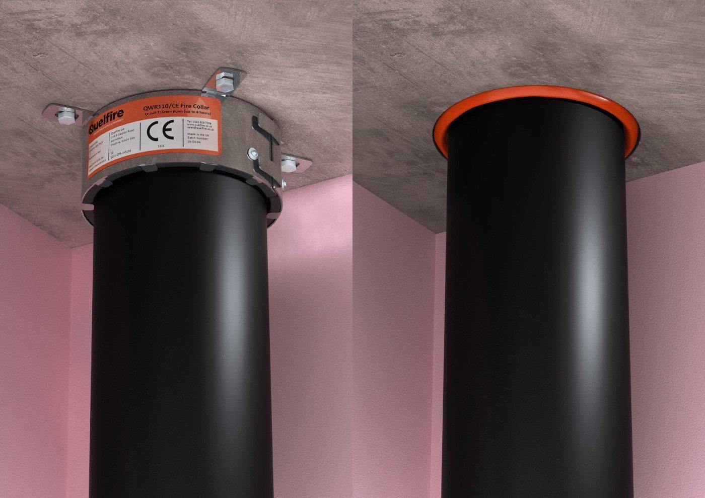 Wall pipe penetration leak goes