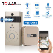 Wholesale factory 2018 smart PIR motion night vision support 64GB TF Card Two ways audio WIFI doorbell ring camera