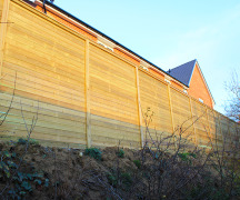 Jakoustic Reflective reduces noise for new housing development