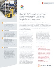 Rapid ROI and improved safety delight leading logistics company