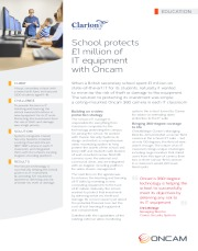 School protects £1 million of IT equipment with Oncam