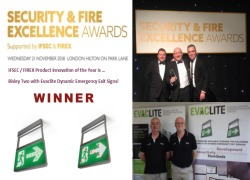 WINNER - IFSEC/ FIREX  ''FIRE INNOVATION OF THE YEAR 2018''