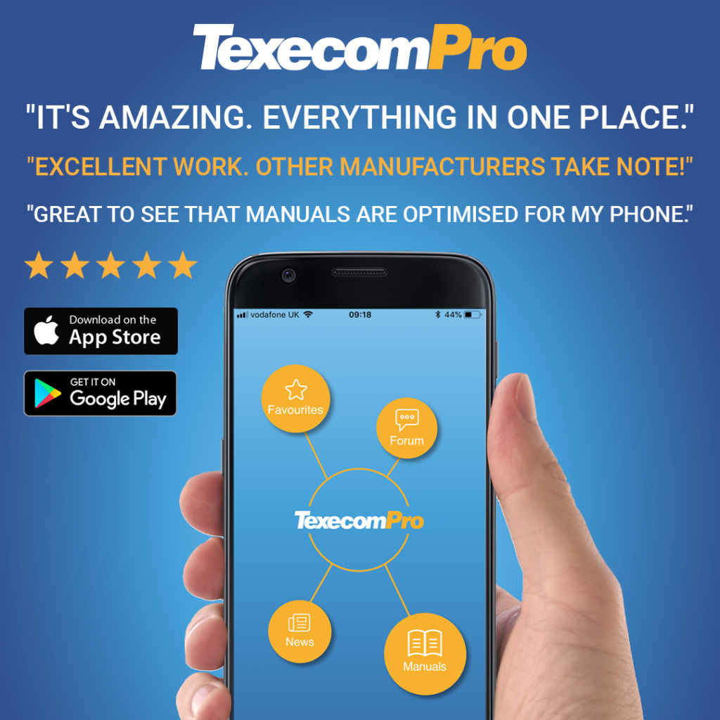 The TexecomPro App: All Texecom's Technical Product