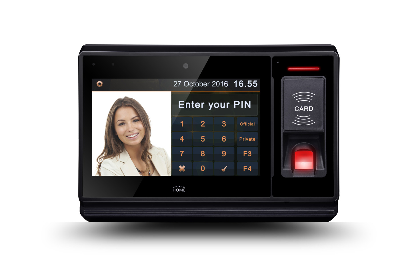 RFID Fingerprint Access Control and Time Attendance with 7' touch