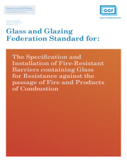 The Specification, Supply and Installation of Fire-Resistant Barriers containing Glass