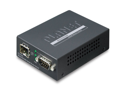 ICS-115A -- RS232/RS422/RS485 Serial Device Server with 1-Port 100BASE-FX SFP