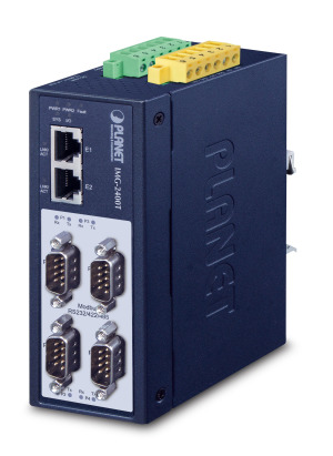 IMG-2400T -- Industrial 4-Port RS232/422/485 Modbus Gateway