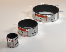 CE Marked Fire Collars / Intumescent Pipe Collars