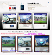 home automation system products demo boards for easy show.