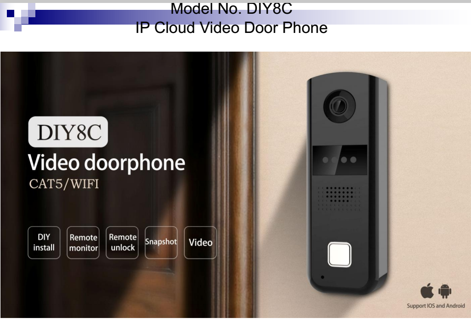 SMART WIFI DIY VIDEO DOORBELL | Competition Electronic (Zhuhai) Co ...