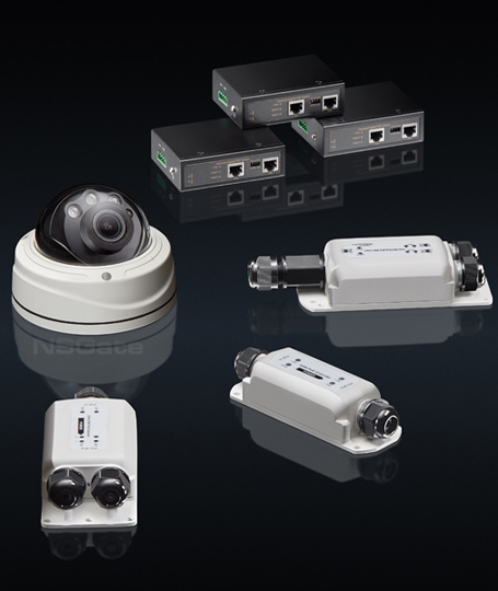 Industrial PoE  Extenders and Injectors