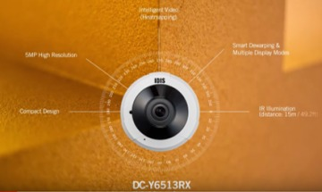 VIDEO: IDIS 5MP IR Super Fisheye Compact