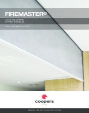 FireMaster® active fire curtain barrier