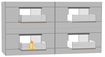 Boundary Protection Fire Curtains used on Tall Buildings