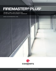 FireMaster® Plus active fire curtain barrier